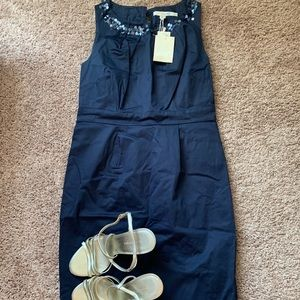 NWT Boden Shift Dress with Sequin Neckline - 4P